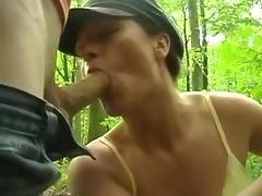 Dogging -Wife Commits Adultery in the Forest porn tube video