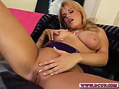 Horny MILF Tiana Fingers Her Wet Hole
