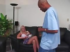 Cute Blonde Interracial Anal