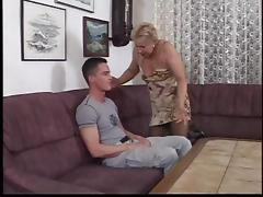 Horny granny has her cunt hammered hardcore on the couch porn tube video
