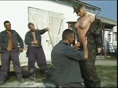 Military life is not hard for a gangbang loving blonde angel porn tube video