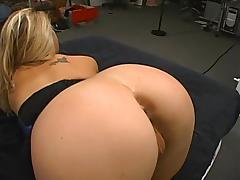 Hardcore POV sex scene with slutty pierced amateur blonde