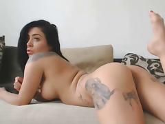 webcam show perfect body brunette