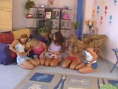 Big Tits, Big Tits, Group, Lesbian, Orgy, Lesbian Orgy