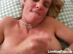 Handjob ends with great cum load