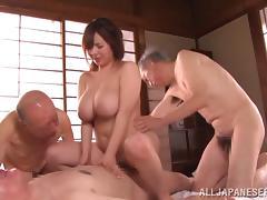 Asian, Asian, Big Tits, Cowgirl, Foursome, Hardcore