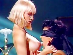 Alicyn Sterling, Raven in vintage sex video with arousing lesbian games
