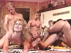 Alicia Monet, Amber Lynn, Brandy Alexandre in vintage sex scene