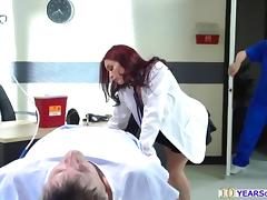 Slutty Doctor Monique Alexander seduces nurse into anal sex porn tube video