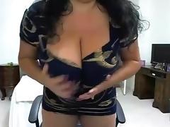 Carol's big tit show