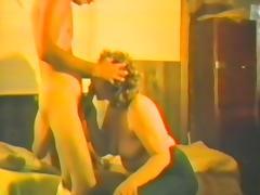 Retro FFM homemade clip with two bosomy amateur brunettes