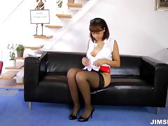 Business Woman, Blowjob, Couple, Cowgirl, Deepthroat, Doggystyle