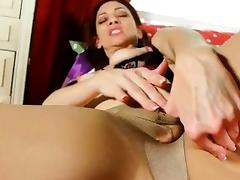 New pantyhose get mom\'s hormones out of control porn tube video