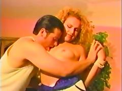 His curly hair girl is hot in this porn video from the 1980s