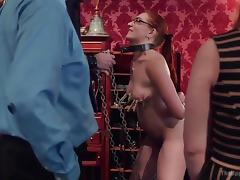 sluts getting dominated by bunch of bdsm lovers