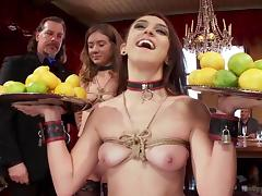 naked slaves serving at the kinky party