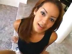 Nice busty Latina slut rides a schlong porn tube video