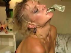 Horny sluts in compilation licking cunt before getting toy and cock fucked