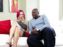 Tattooed vixens getting seduced in captivating interracial compilation tube porn video