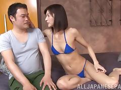 Bikini, Asian, Bikini, Blowjob, Couple, Handjob