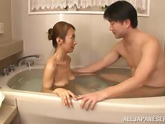 Bath, Asian, Bath, Beauty, Cougar, Couple