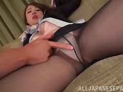 Renting a hotel to fuck two Japanese flight attendants tube porn video