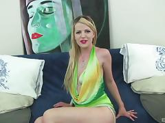 Blazing blonde getting her asshole drilled with a big boner