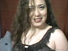 Drilling his chubby wife and cumming all over her face