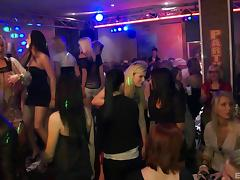 Having hardcore sex during a dance party in a club