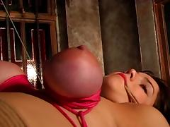 Bound, BDSM, Big Tits, Boobs, Bound, Choking