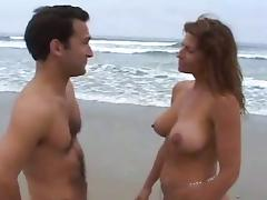 milf gets fucked at the beach