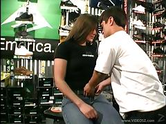 This wild couple fucks right in the middle of a store after hours