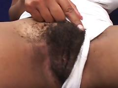 Afro american hair pie loves double cock action