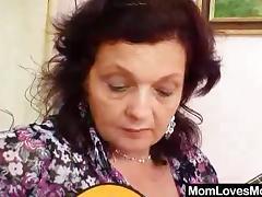 Grandma, Dildo, Double, Granny, Lesbian, Mature
