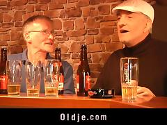 Drinking at the pub and taking two old dudes home for a fuck