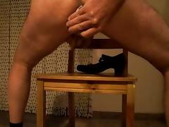 a shoe of my wife US size 8 in my ass