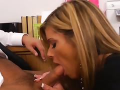 Blonde Kristal Summerr gets banged at the office
