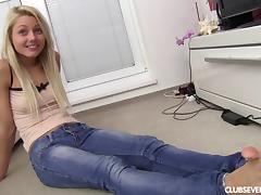 Blonde, Amateur, Blonde, Casting, Cute, Jeans