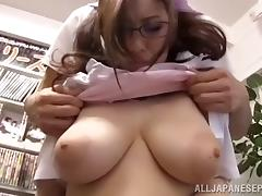 Even nerdy girls with glasses need their dose of dick tube porn video