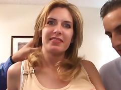 Pretty Milf fucks 2 men aNAL Big Cumshot tube porn video