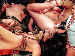 Kali Kavalli Endures 1st Slave Training with Rope Bondage, Sybian, Deepthroat BJ, Rough Sex tube porn video