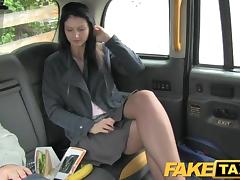 FakeTaxi Brunette exhibitionist loves cameras porn tube video