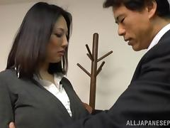 Old fart fucks a perfect Japanese MILF as hard as he can tube porn video