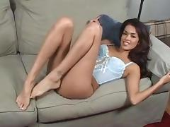 Daisy Marie Worships her own perfect feet tube porn video