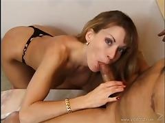 Lovely porn sweetheart Lauren Montgomery gets banged with a hot cumshot