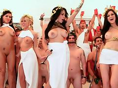 Pornstar toga party orgy porn tube video