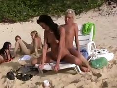 Beach, Beach, Lesbian, Public