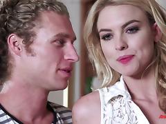 Passionate blonde awards her husband a superb blowjob then enjoys getting smashed hardcore
