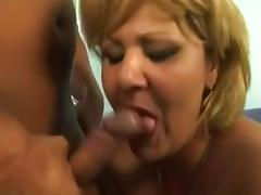 Blonde Grandmother seduced by young Sailor tube porn video