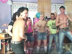 Her fun birthday party becomes a wild and crazy orgy tube porn video